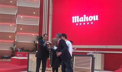 La alcaldesa Manuela Carmena durante la inauguración.